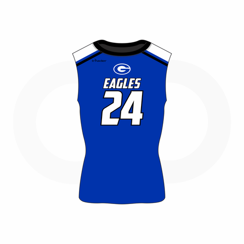 Georgetown Eagles Varsity Sleeveless Compression  Shirt Blue