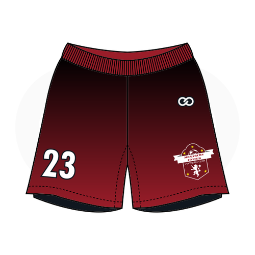 Monarchs United Soccer Shorts - Black