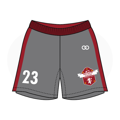 Monarchs United Soccer Shorts - Grey