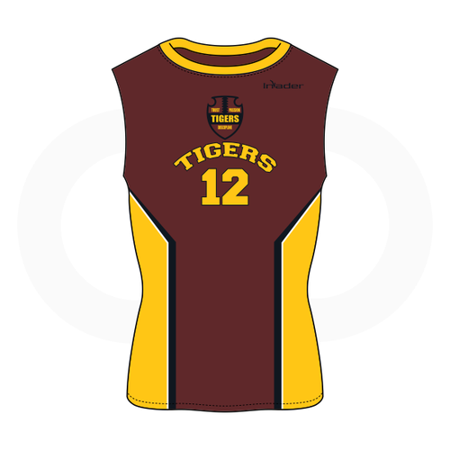 Dripping Springs Tigers Sleeveless Compression Shirt Brown