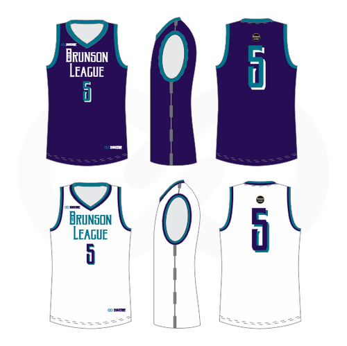 Brunson League Reversible Basketball Jersey - Hornets