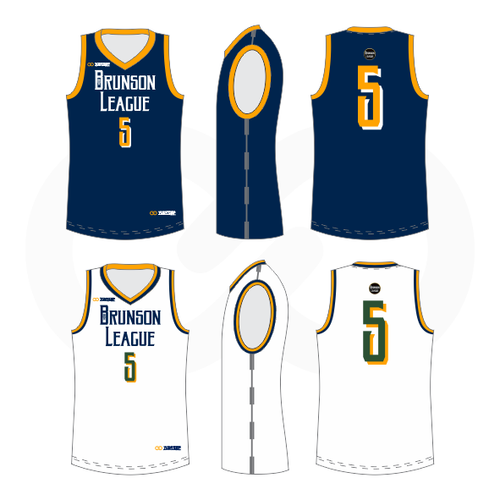 Brunson League Reversible Basketball Jersey - Jazz
