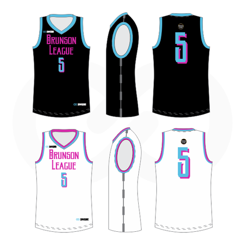 Brunson League Reversible Basketball Jersey - Miami Vice