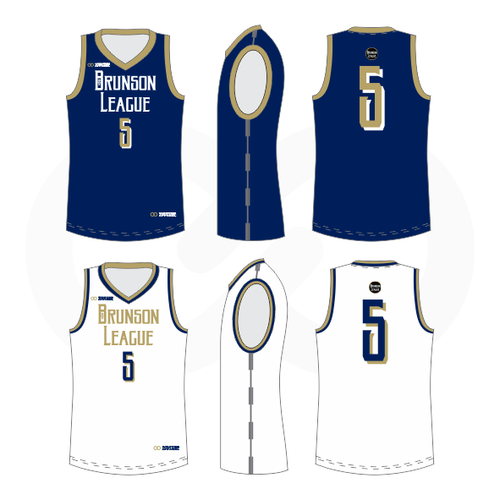 Brunson League Reversible Basketball Jersey - Pitts