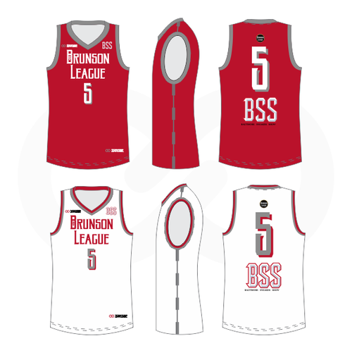 Brunson League Reversible Basketball Jersey - Rockets