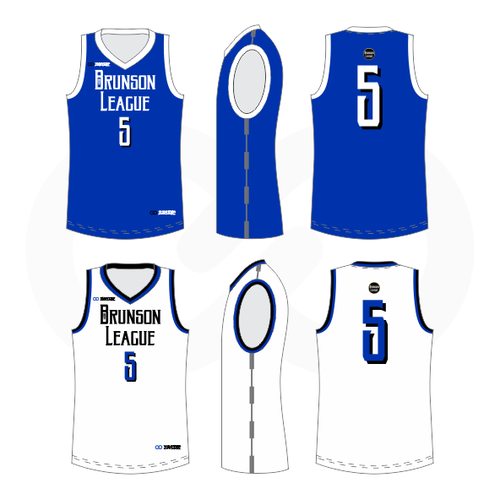 Brunson League Reversible Basketball Jersey - Royal, Black