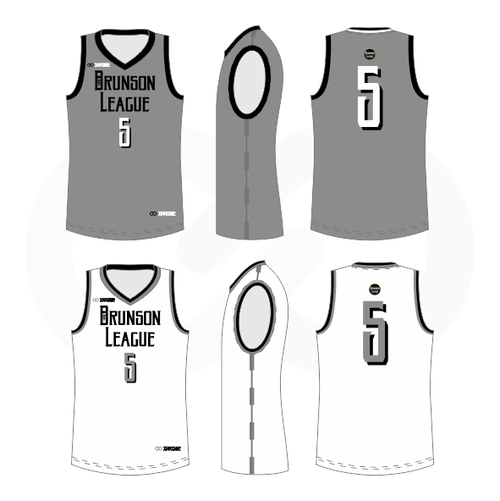 Brunson League Reversible Basketball Jersey - Spurs