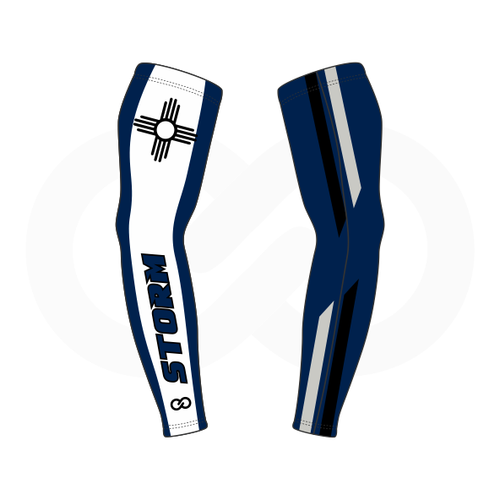 Storm Basketball Compression Arm Sleeve - Navy