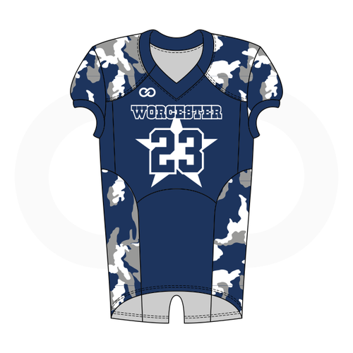 Worcester Cowboys Football Jersey Style 2