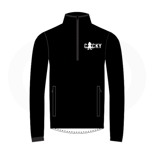 Cocky & Sadity Warmup Jacket - Black with White