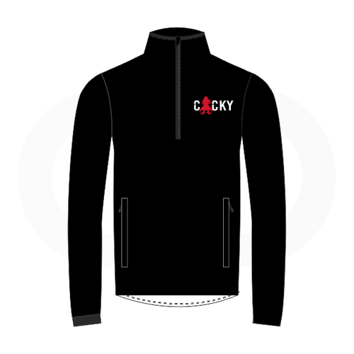 Cocky & Sadity Warmup Jacket - Black with Red & White