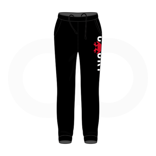 Cocky & Sadity Warmup Pants - Black with Red & White