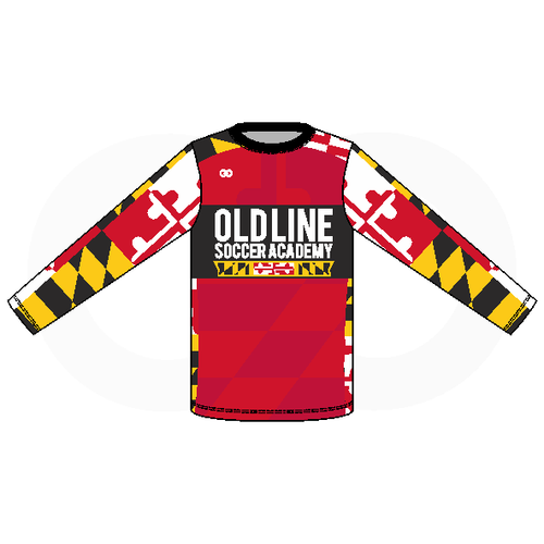 Oldline Soccer Long Sleeve Tee - Pattern