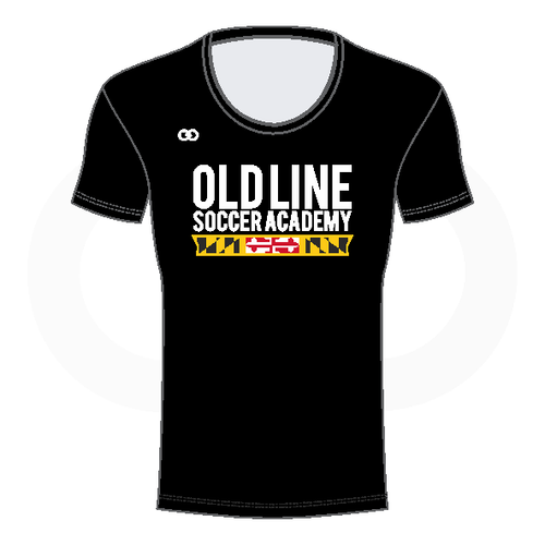Oldline Soccer Scoop Neck Shirt - Black