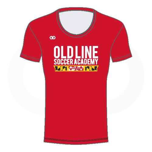 Oldline Soccer Scoop Neck Shirt - Red