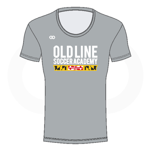 Oldline Soccer Scoop Neck Shirt - Grey