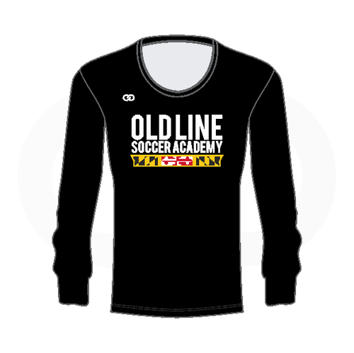 Oldline Soccer Longsleeve  Scoop Neck Shirt - Black