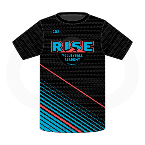 Rise Volleyball T-Shirt - Black