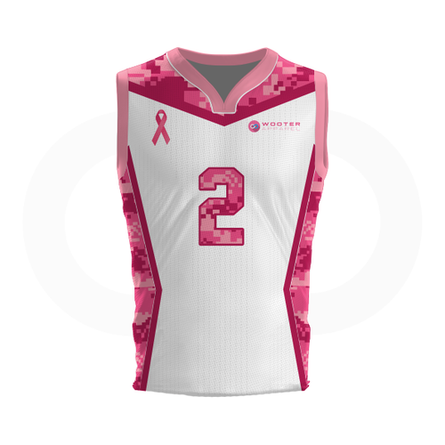 Breast Cancer Awareness Basketball Jersey - White