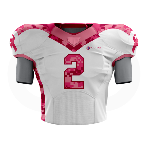 Breast Cancer Awareness Football Jersey - White