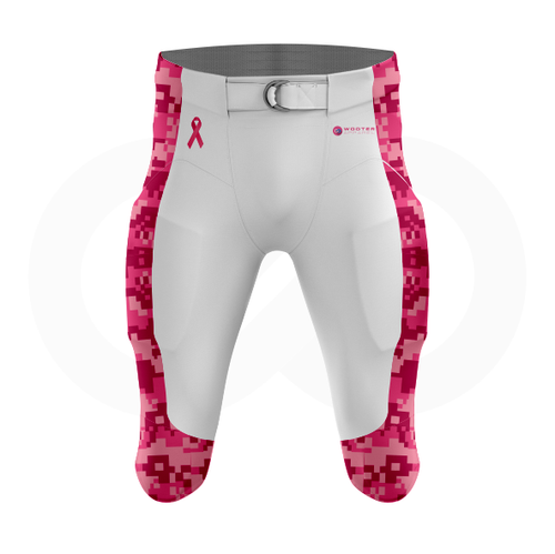 Breast Cancer Awareness Football Pants - White