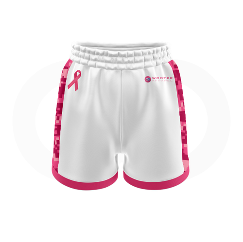 Breast Cancer Awareness Soccer Shorts - White