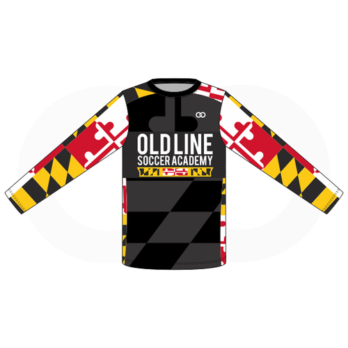 Oldline Soccer Shooting Shirt - Black