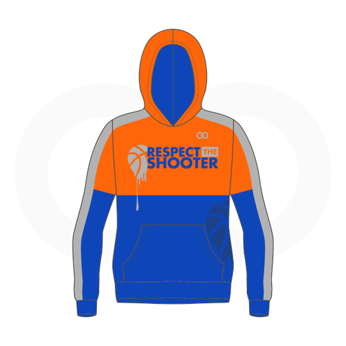 Respect The Shooter Hoodie - Orange Royal