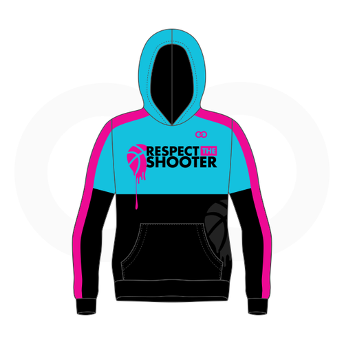 Respect The Shooter Hoodie - Cyan Black