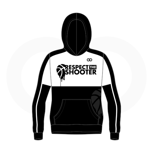 Respect The Shooter Hoodie - White Black