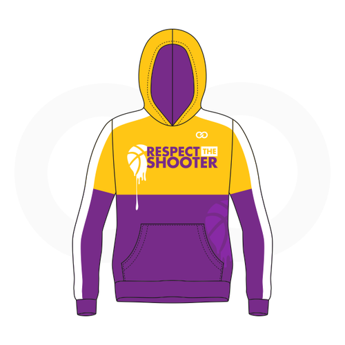 Respect The Shooter Hoodie - Gold Purple