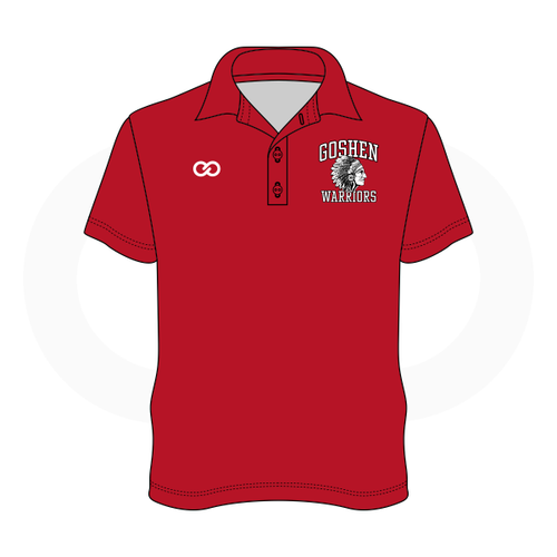Goshen Youth Basketball Polo - Red