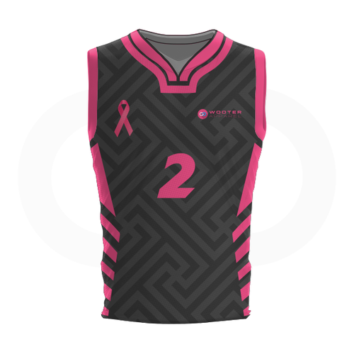 Breast Cancer Basketball Jersey - Grey