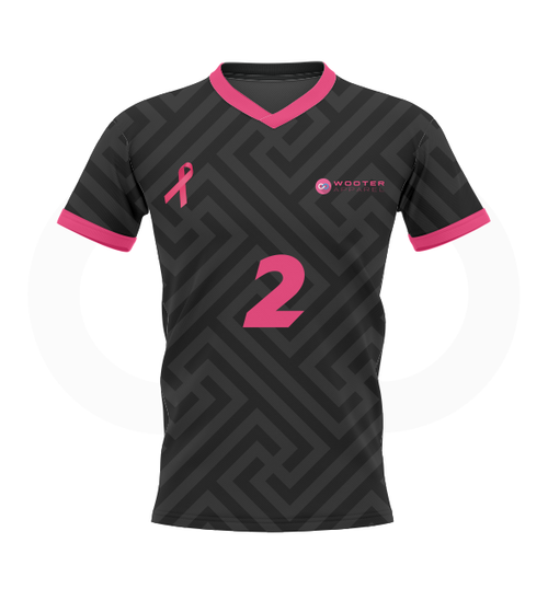 Breast Cancer Soccer Jersey - Grey