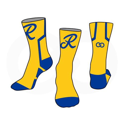 Royals Basketball Socks - Gold