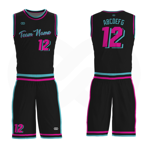 Miami Vice - Custom Basketball Uniform Full Set