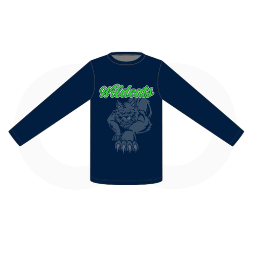 West Hempfield Wildcats Baseball Navy Shooting Shirt 1