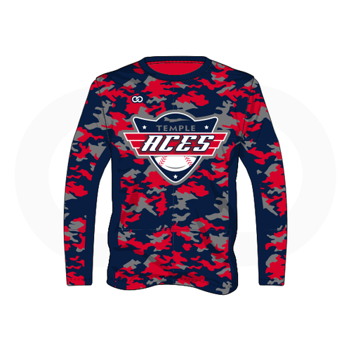 Temple Aces Long Sleeve T-Shirt - Camouflage