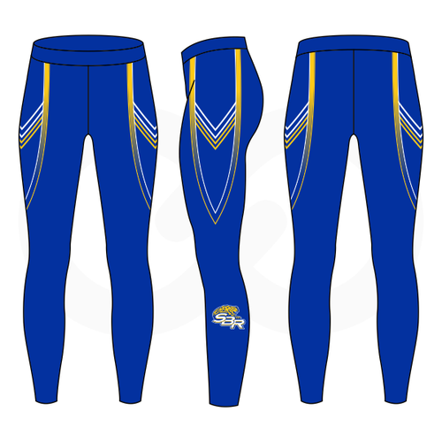 SBR Jaguars Compression Tights - Blue