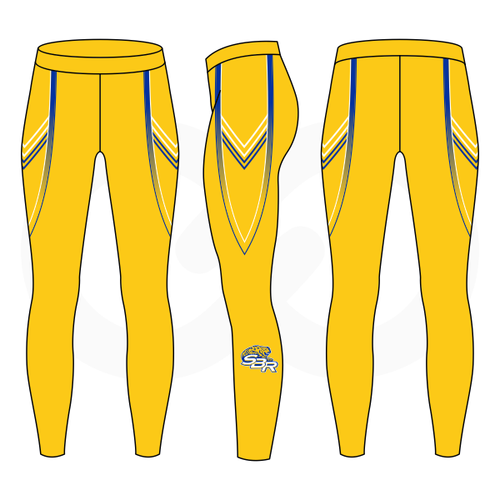 SBR Jaguars Compression Tights - Gold