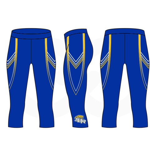 SBR Jaguars 3/4 Length Compression Tights - Blue