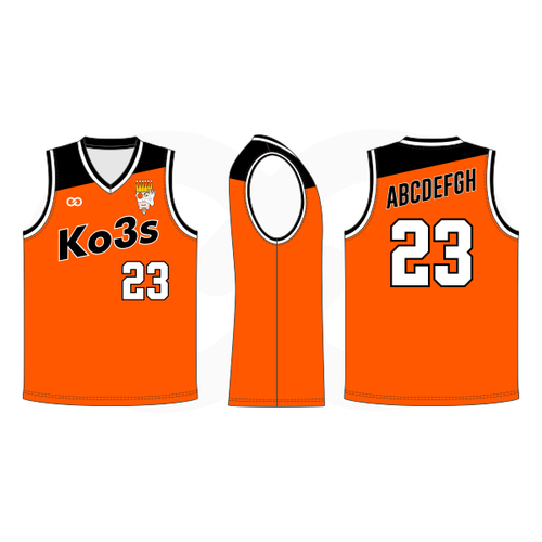 Ko3s Apparel Basketball Jersey - Orange