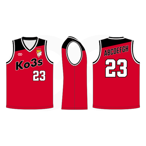 Ko3s Apparel Basketball Jersey - Red