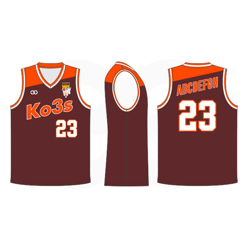 Ko3s Apparel Basketball Jersey - Brown
