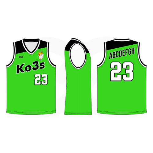 Ko3s Apparel Basketball Jersey - Lime Green