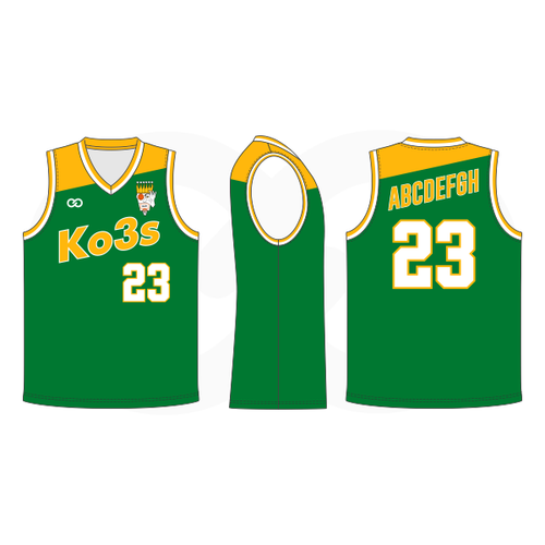 Ko3s Apparel Basketball Jersey - Green