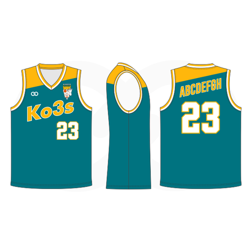 Ko3s Apparel Basketball Jersey - Teal Green