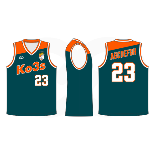 Ko3s Apparel Basketball Jersey - Dark Green