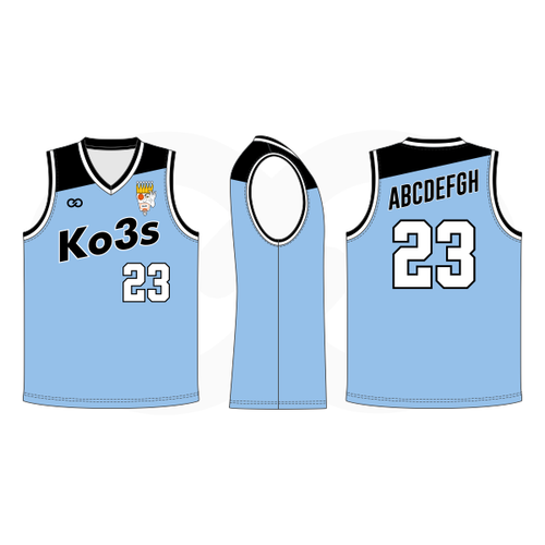 Ko3s Apparel Basketball Jersey - Sky Blue
