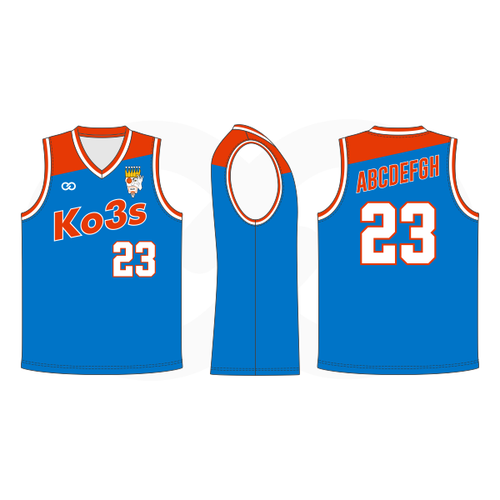 Ko3s Apparel Basketball Jersey - Bright Blue